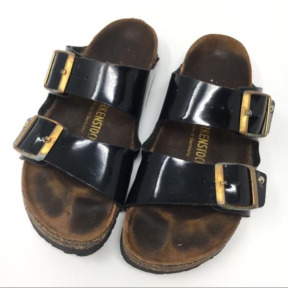 47851427d5c3 Birkenstock Shoes - Birkenstock Arizona black patent two straps 37